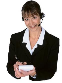woman headset phone